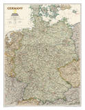 National Geographic - Germany Executive Map Laminated Poster