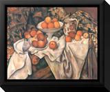 Still Life with Apples and Oranges, c.1895-1900 Tableau sur toile encadré par Paul Cézanne
