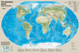 National Geographic - The Dynamic Earth  Plate Tectonics Map Laminated Poster