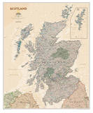 National Geographic - Scotland Executive Map Laminated Poster