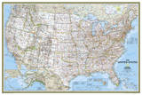 National Geographic - United States Classic  poster size Map Laminated Poster
