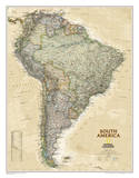National Geographic - South America Executive Map Laminated Poster