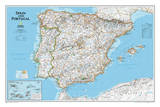 National Geographic - Spain & Portugal Classic Map Laminated Poster