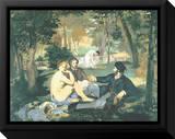 Dejeuner sur l'Herbe Tableau sur toile encadré par Édouard Manet