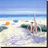 Le vélo rouge Tableau sur toile par Henri Deuil