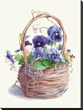 Grapevine Pansy Basket