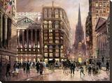 Wall Street 1890 Tableau sur toile par Robert Lebron