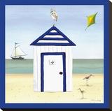 Maison de plage4 Tableau sur toile par Katharine Gracey