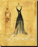 London Fashion Tableau sur toile par Jennifer Sosik