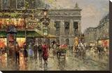 Vintage Parisian Street Scene Tableau sur toile