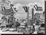 Casino signs along Las Vegas Street  ca 1954