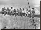 New York Construction Workers Lunching on a Crossbeam, 1932 Tableau sur toile par Charles C. Ebbets