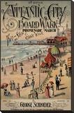 Atlantic City Board Walk Promenade March Tableau sur toile