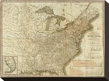 View of the Whole Internal Navigation of the United States  c1830