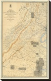 Civil War Map of the Region between Gettysburg and Appomattox Court House  c1869