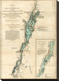 Survey of Lake Champlain  including Lake George  Crown Point and St John  c1776