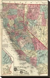 Map of the States of California and Nevada  c1877