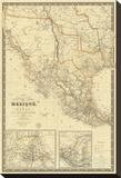 Nouvelle Carte du Mexique  Du Texas  c1840