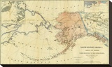 Northwestern America Showing the Territory Ceded by Russia to the United States  c1867