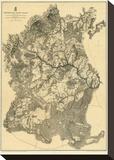Civil War Map: Appomattox Court House  c1869