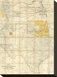 Map of The States of Kansas and Texas and Indian Territory  c1867