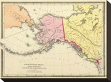 Northwestern America Showing the Territory ceded by Russia to the United States  c1872