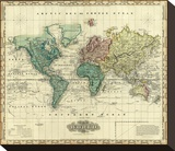 World on Mercators Projection  c1823
