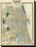 Map of Chicago City  c1876
