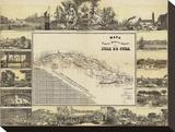 Mapa Historico Pintoresca Moderno de al Isla De Cuba  c1853