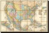 Carte Generale Des Etats  c1865