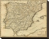 Spain  Portugal  c1812