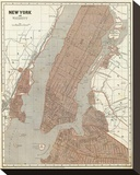 New York and Vicinity  c1845