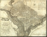 Plan of the City of Washington  c1795