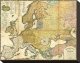 Ethnographische Karte von Europa  c1847