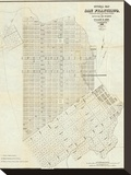 Official Map of San Francisco  c1851