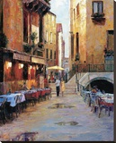 Street Cafe After Rain Venice