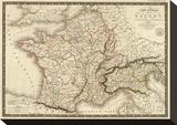 Carte Generale des Gaules  c1821