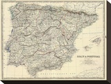 Spain  Portugal  c1861