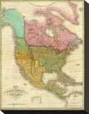 Map of North America Including All the Recent Geographical Discoveries  c1826