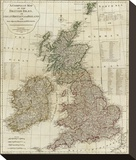 A Complete Map of the British Isles  c1788