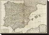 New Map of the Kingdoms of Spain and Portugal  c1790