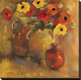 Red And Yellow Poppies