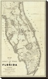Map of the Seat of War in Florida  c1838
