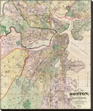 Map of the City of Boston and its Environs  c1874