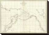 Cotes  l'Amerique  l'Asie  c1797