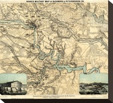 Hughes Military Map of Richmond and Petersburgh  Virginia  c1864