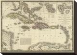 Iles Antilles ou des Indes Occidentales  c1828