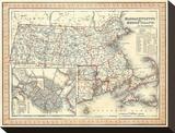 Massachusetts  Rhode Island  c1846