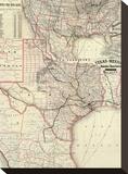 Texas and Mexico  Houston and Texas Central Railways  c1885