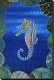 Seahorse on Blue